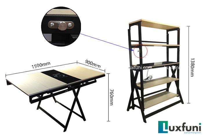 Bộ bàn ăn thông minh gấp gọn cho không gian nhỏ-1