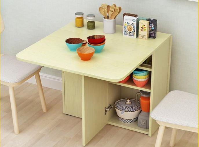 Bộ bàn ăn thông minh gấp gọn cho không gian nhỏ-12
