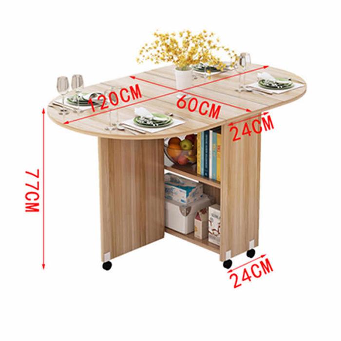 Bộ bàn ăn thông minh gấp gọn cho không gian nhỏ-13