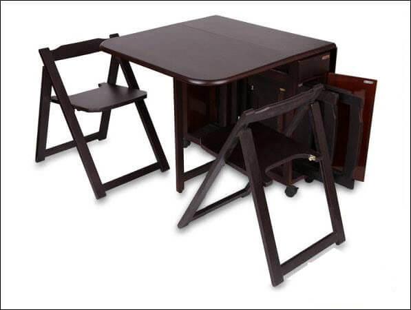 Bộ bàn ăn thông minh gấp gọn cho không gian nhỏ-19