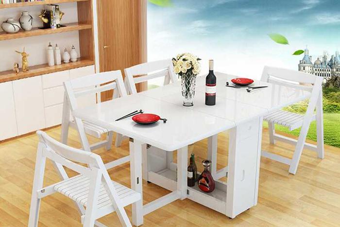 Bộ bàn ăn thông minh gấp gọn cho không gian nhỏ-22