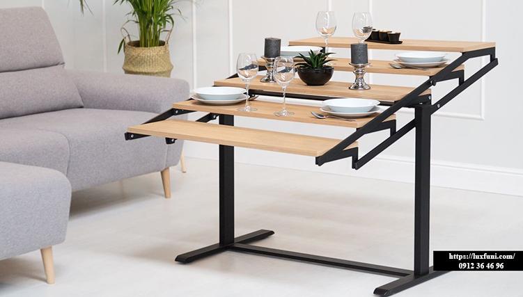 Bộ bàn ăn thông minh gấp gọn cho không gian nhỏ-23