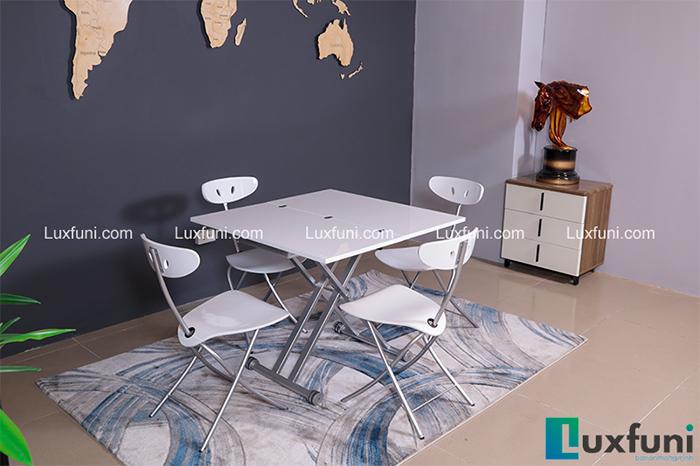 Bộ bàn ăn thông minh gấp gọn cho không gian nhỏ