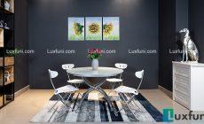 Bộ bàn ghế xếp thông minh tối giản không gian bếp