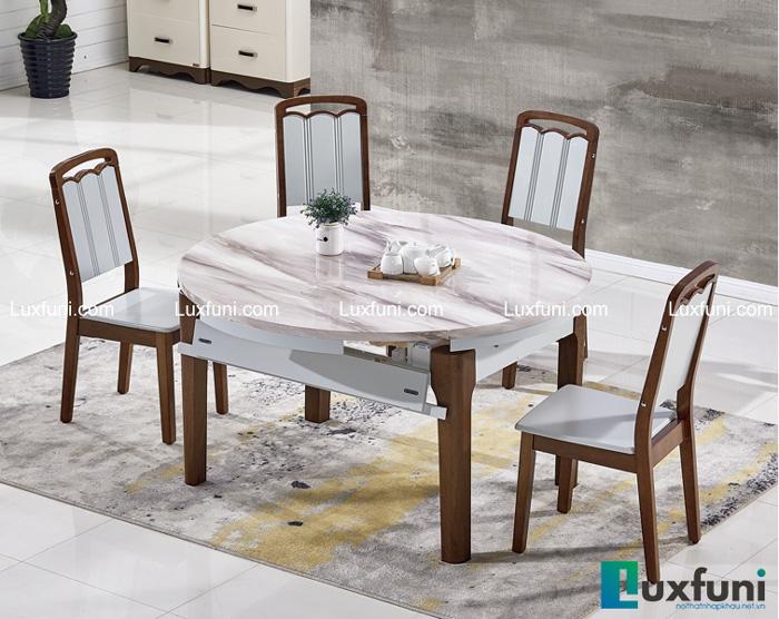 Tham khảo những mẫu bàn ăn đẹp hiện đại 6 ghế vừa túi tiền-5