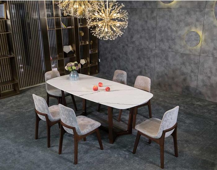 Tham khảo những mẫu bàn ăn đẹp hiện đại 6 ghế vừa túi tiền-13