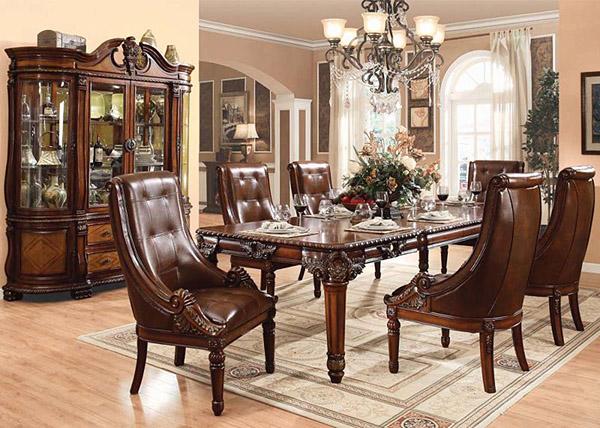 Trải nghiệm phong cách hoàng gia với bàn ghế ăn cổ điển -2