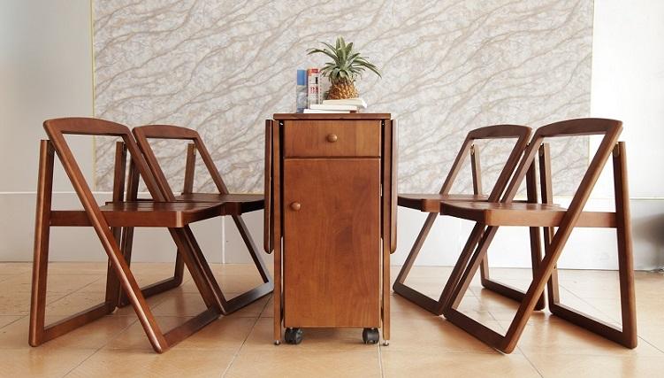 6 mẫu bàn ăn xếp gọn 4 ghế đẹp mê ly-7
