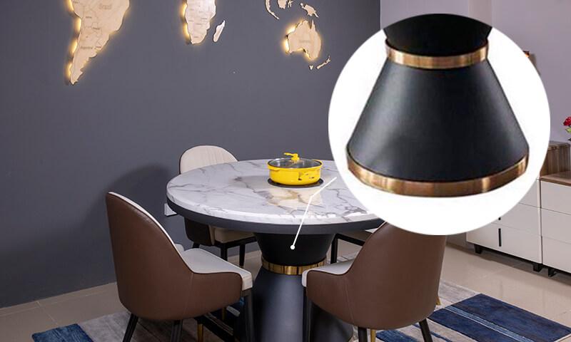Chân bàn là khối hợp kim sơn tĩnh điện chắc chắn, bền bỉ
