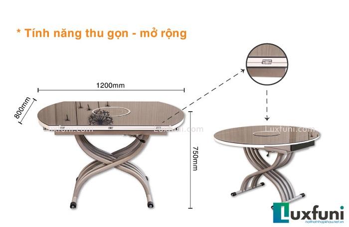Bộ bàn ăn mặt kính hiện đại lựa chọn của phòng bếp sang trọng