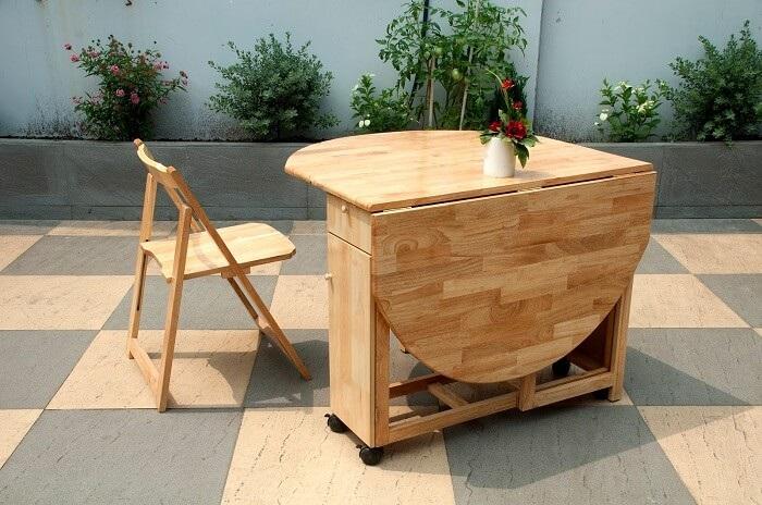 Chiêm ngưỡng những mẫu bàn ăn gấp gọn bằng gỗ siêu tiện ích-4