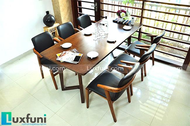 """Mẫu bàn ăn đẹp tại Hà Nội bằng gỗ tự nhiên """"vạn người mê""""-1"""