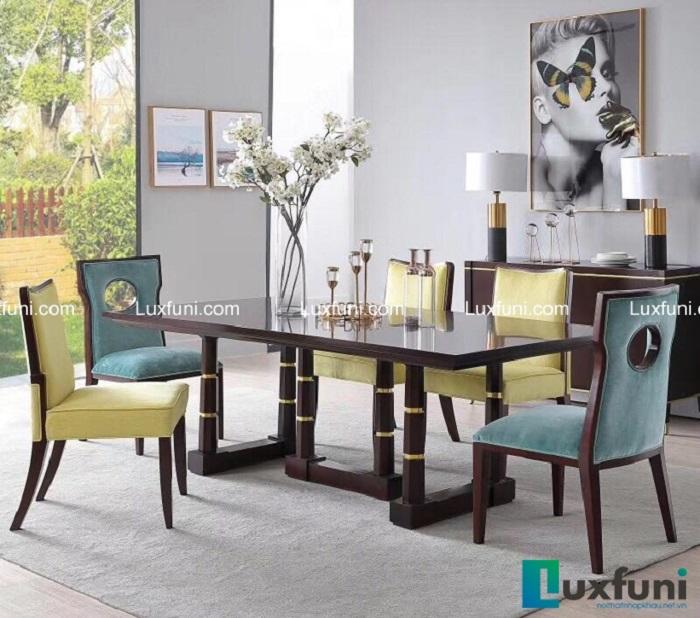 Những bộ bàn ăn gỗ cao cấp đẹp sang chảnh-1