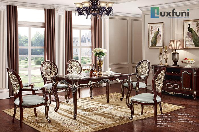 Những bộ bàn ăn gỗ cao cấp đẹp sang chảnh-2