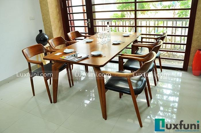 Những bộ bàn ăn gỗ cao cấp đẹp sang chảnh-3