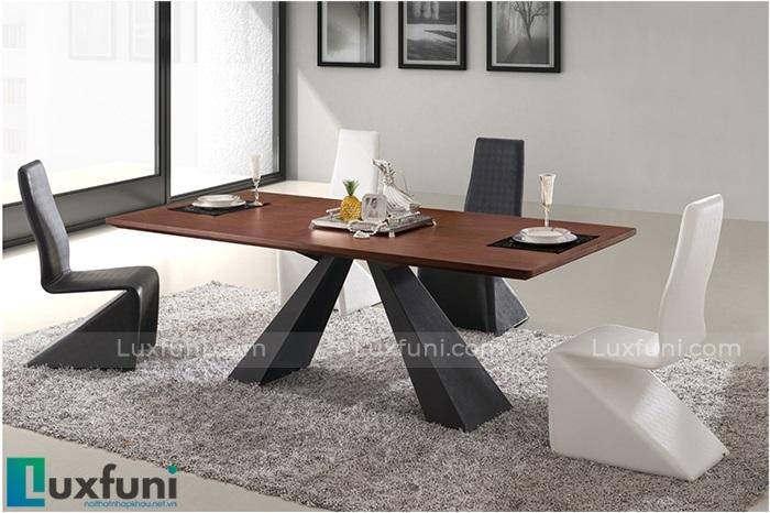 Những bộ bàn ăn gỗ cao cấp đẹp sang chảnh-5