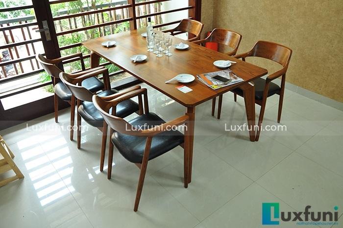 Những mẫu bàn ăn gỗ đẹp hiện đại và sang chảnh-5