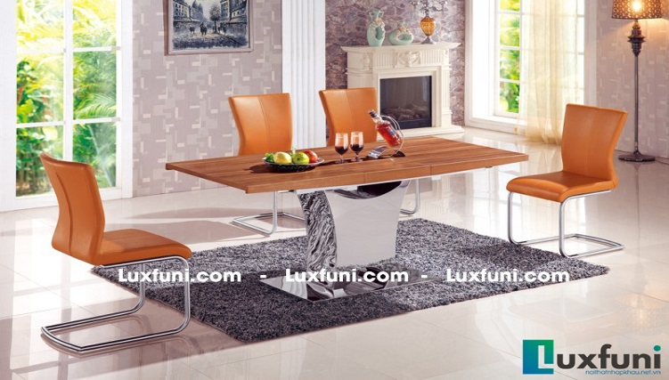Những mẫu bàn ăn gỗ đẹp hiện đại và sang chảnh-7