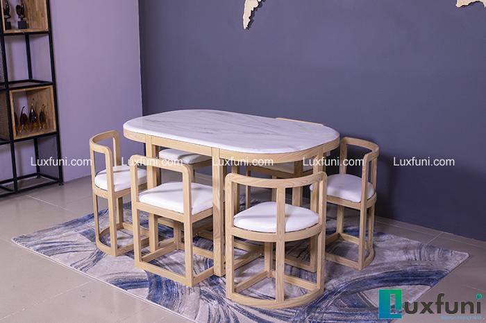 Những mẫu bàn ăn xếp gọn 6 ghế siêu ấn tượng-1
