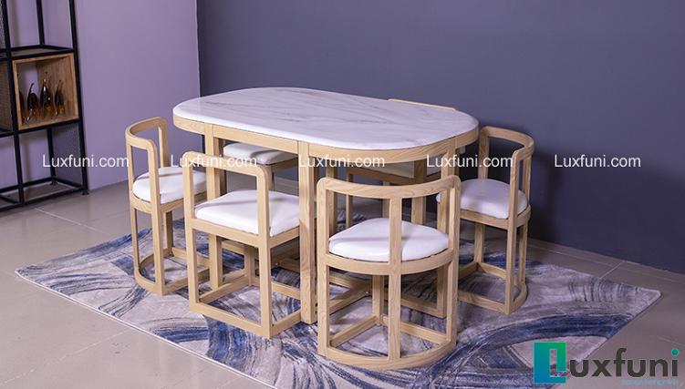Những mẫu bàn ăn xếp gọn 6 ghế siêu ấn tượng-6