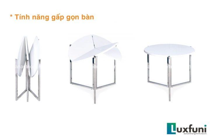 Những mẫu bàn ăn xếp gọn 6 ghế siêu ấn tượng-7