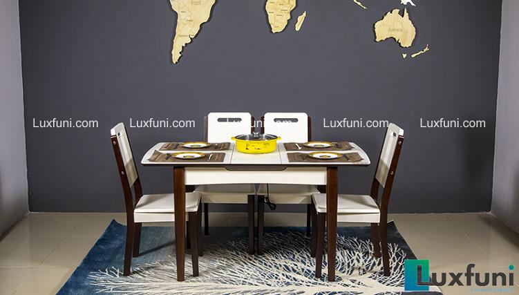 Review 5 bộ bàn ăn thông minh có bếp từ bán chạy 2020
