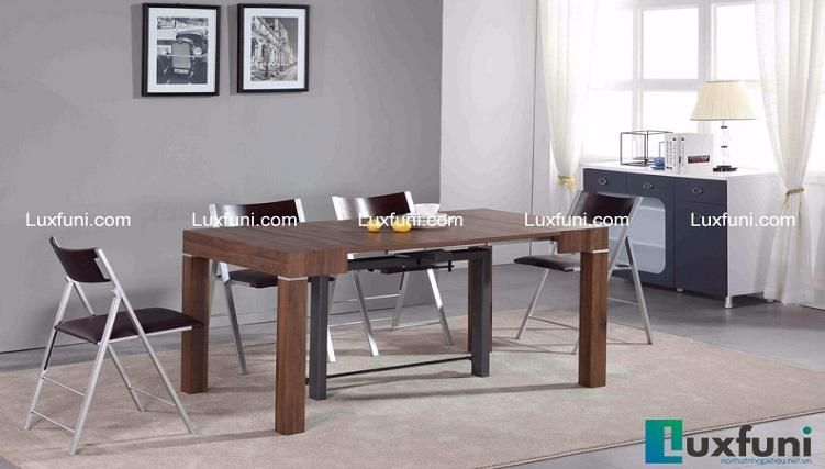 Tuyển tập những bộ bàn ăn gỗ đẹp cho nhà chật-5