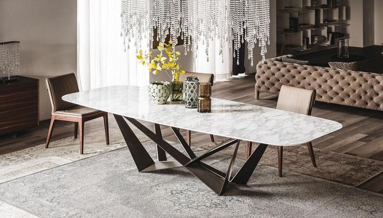 Ưu nhược điểm của bàn ăn mặt đá marble-1