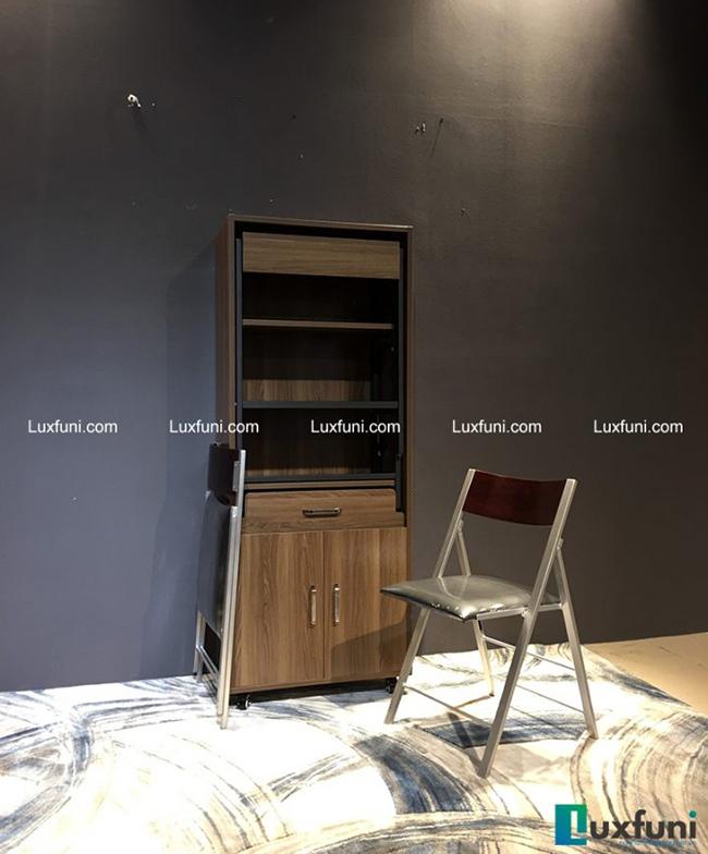 Bàn ghế ăn thông minh gỗ tích hộp tủ đồ