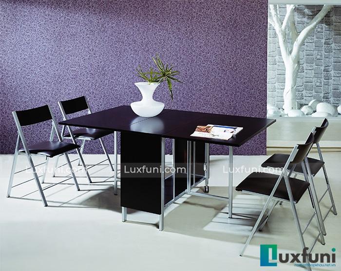 trạng thái mở rộng của bộ bàn ăn gấp gọn thông minh B2208 4 ghế