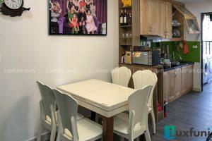 Bàn ăn bếp từ T1362-Chị Nga-Chung cư Smile Building, Số 1 Nguyễn Cảnh Dị