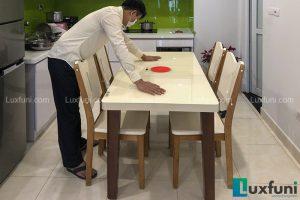 Bàn ăn bếp từ T1362-Chị Tuyết-Tòa CT2, Chung cư Cơ Yếu, Ngã tư Khuất Duy Tiến, Lê Văn Lương