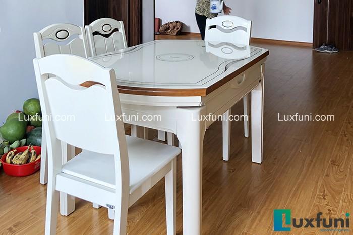 Bàn ăn bếp từ T1718-Chị Hà-Tòa B5, Mỹ Đình 1, Nguyễn Cơ Thạch