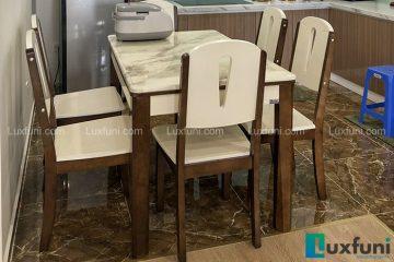Bộ bàn ăn mặt đá A10