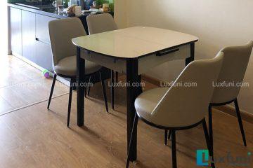 Bộ bàn ăn thu gọn mở rộng B68 (Kèm 4 ghế)