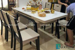 Bộ bàn ăn bếp từ T1958 nhà anh Long, phố Dịch Vọng, Cầu Giấy, Hà Nội