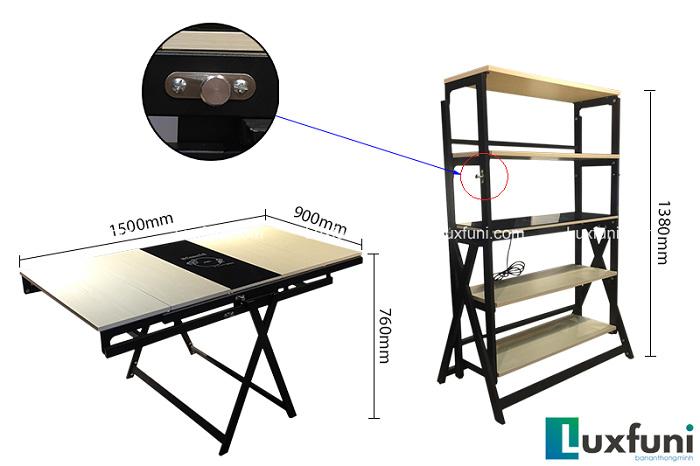 Đánh giá 5 mẫu bàn ăn gấp gọn bán chạy tại Luxfuni-5