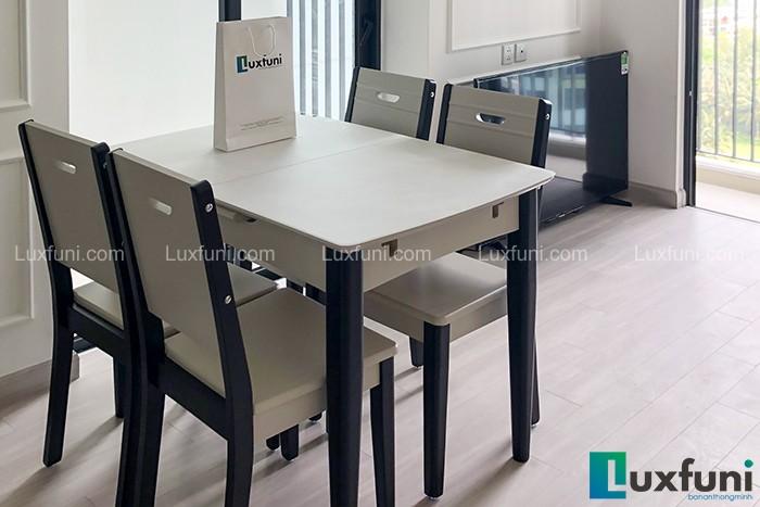 Ghế ăn 15 kết hợp bàn ăn bếp từ 870-Chị Giang-Tòa Grand Park Premium, Ecopark-1