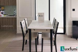 Ghế ăn 15 kết hợp bàn ăn bếp từ 870-Chị Giang-Tòa Grand Park Premium, Ecopark