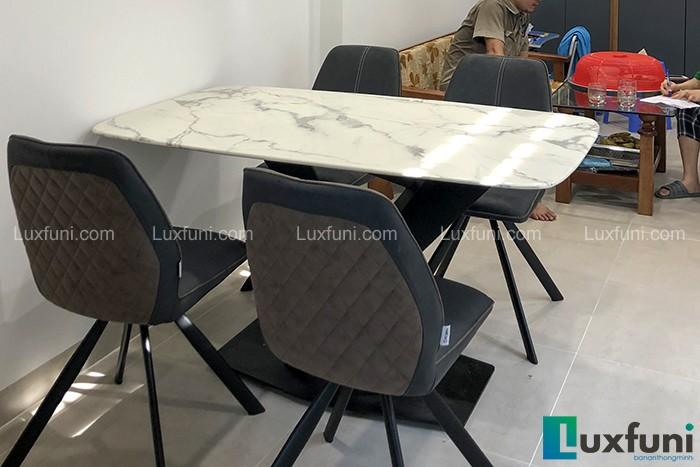 Ghế ăn A058 kết hợp bàn ăn mặt đá T261-Anh Kiên-Đường Phương Canh, Hà Nội