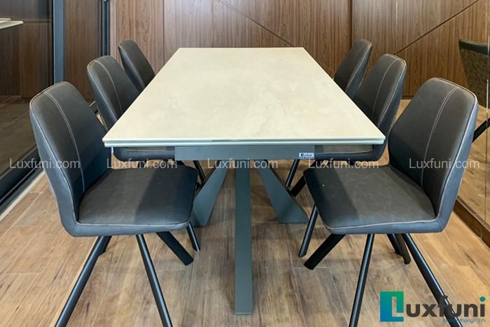 Ghế ăn A058 kết hợp bàn ăn thông minh mặt gốm T853-Chị Tuyết-Chung cư Hinode City, 344 Kim Ngưu-1