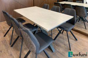 Ghế ăn A058 kết hợp bàn ăn thông minh mặt gốm T853-Chị Tuyết-Chung cư Hinode City, 344 Kim Ngưu