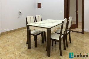 Ghế ăn A10 kết hợp bàn ăn mặt đá A10-Chị Hồng-Ruby quán, Baza dãy nhà trắng, Kiot 34, Ninh Hiệp-1