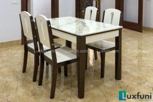 Ghế ăn A10 kết hợp bàn ăn mặt đá A10-Chị Hồng-Ruby quán, Baza dãy nhà trắng, Kiot 34, Ninh Hiệp