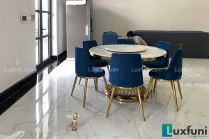 Ghế ăn AG86 kết hợp bàn ăn AG86-Chú Đại-Vinhomes Imperia, Bạch Đằng, Hải Phòng-1