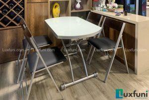 Ghế ăn C3332 đen kết hợp bàn ăn thông minh B2252-Chị Yến-Tòa Lake 2, Ecopark-1