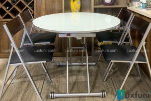 Ghế ăn C3332 đen kết hợp bàn ăn thông minh B2252-Chị Yến-Tòa Lake 2, Ecopark