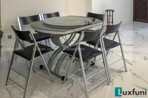 Ghế ăn C3332 đen kết hợp bàn ăn thông minh bếp từ-Chị Loan-Tòa S5, Sunshine City, Ciputra-1