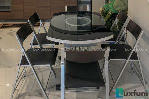 Ghế ăn C3332 đen kết hợp bàn ăn thông minh bếp từ-Chị Loan-Tòa S5, Sunshine City, Ciputra-2