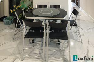 Ghế ăn C3332 đen kết hợp bàn ăn thông minh bếp từ-Chị Loan-Tòa S5, Sunshine City, Ciputra